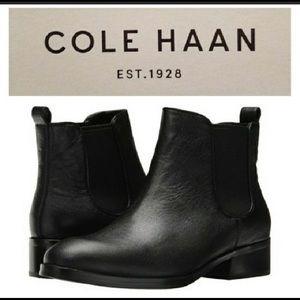 Cole Haan new Landsman Booties black leather 7